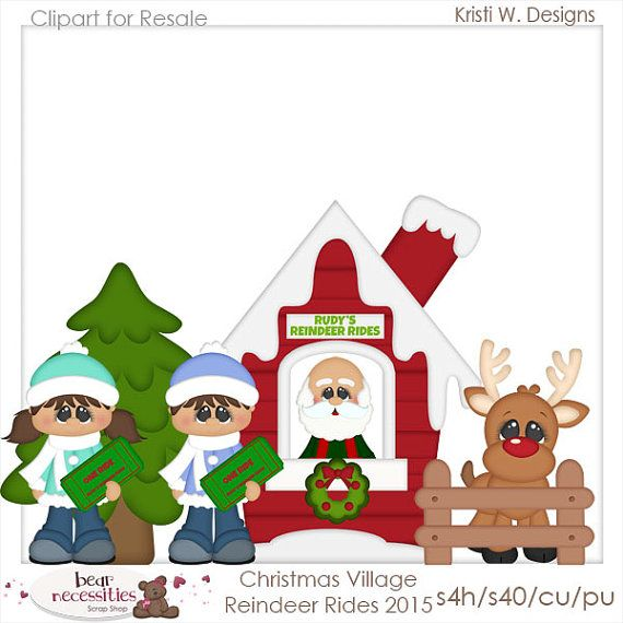 Santa Claus And Reindeer Clipart