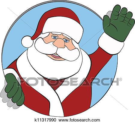 450x411 Santa Claus Waving Clipart Amp Santa Claus Waving Clip Art Images