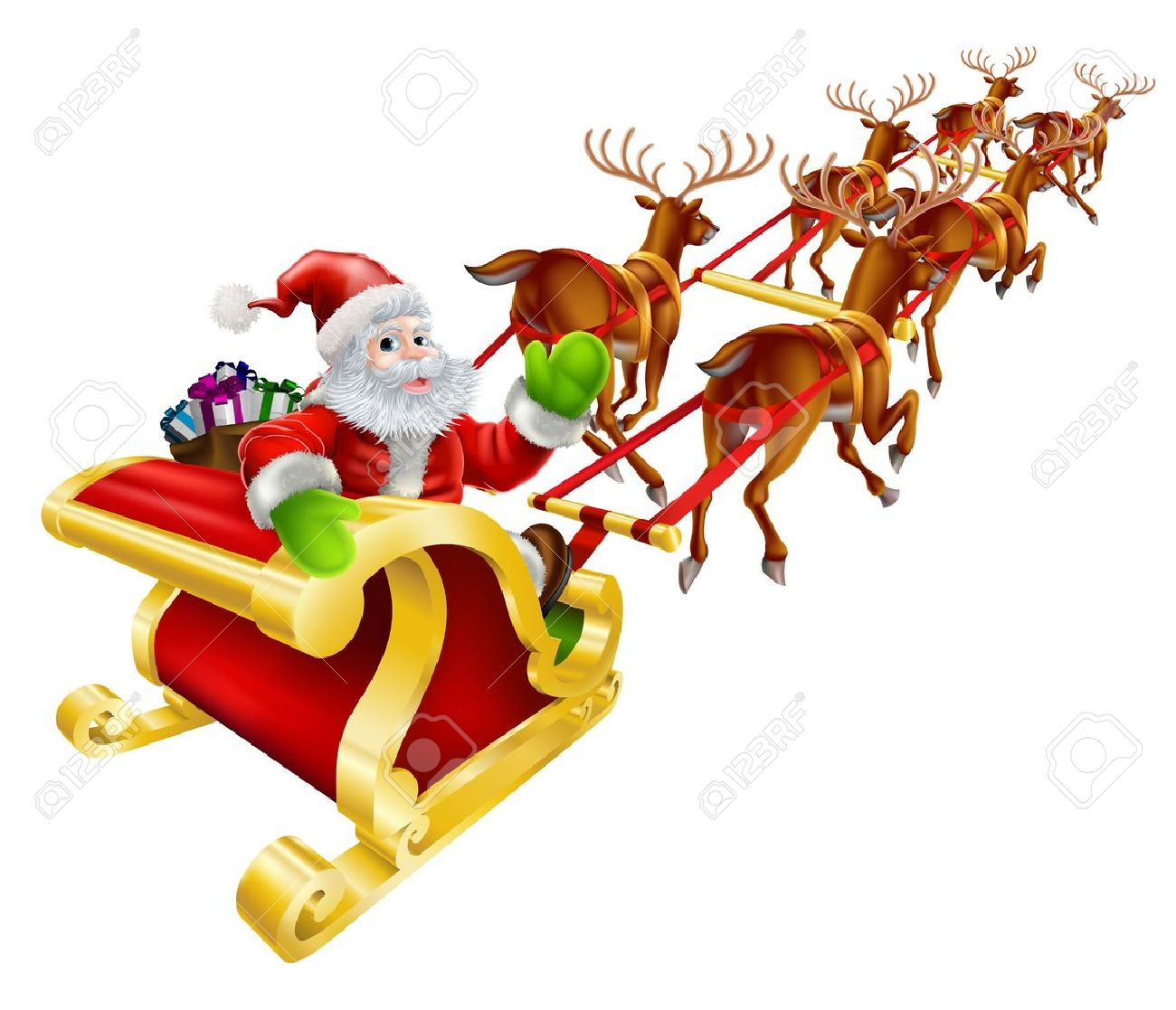 1300x1117 Free Clipart Father Christmas Sleigh