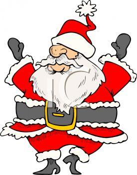 275x350 Humorous Santa Claus Clipart