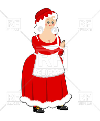 332x400 Mrs. Claus. Wife Of Santa Claus. Royalty Free Vector Clip Art