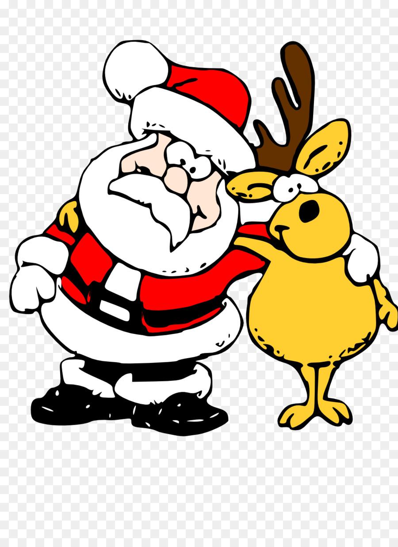 900x1240 Rudolph Santa Claus Reindeer Clip Art