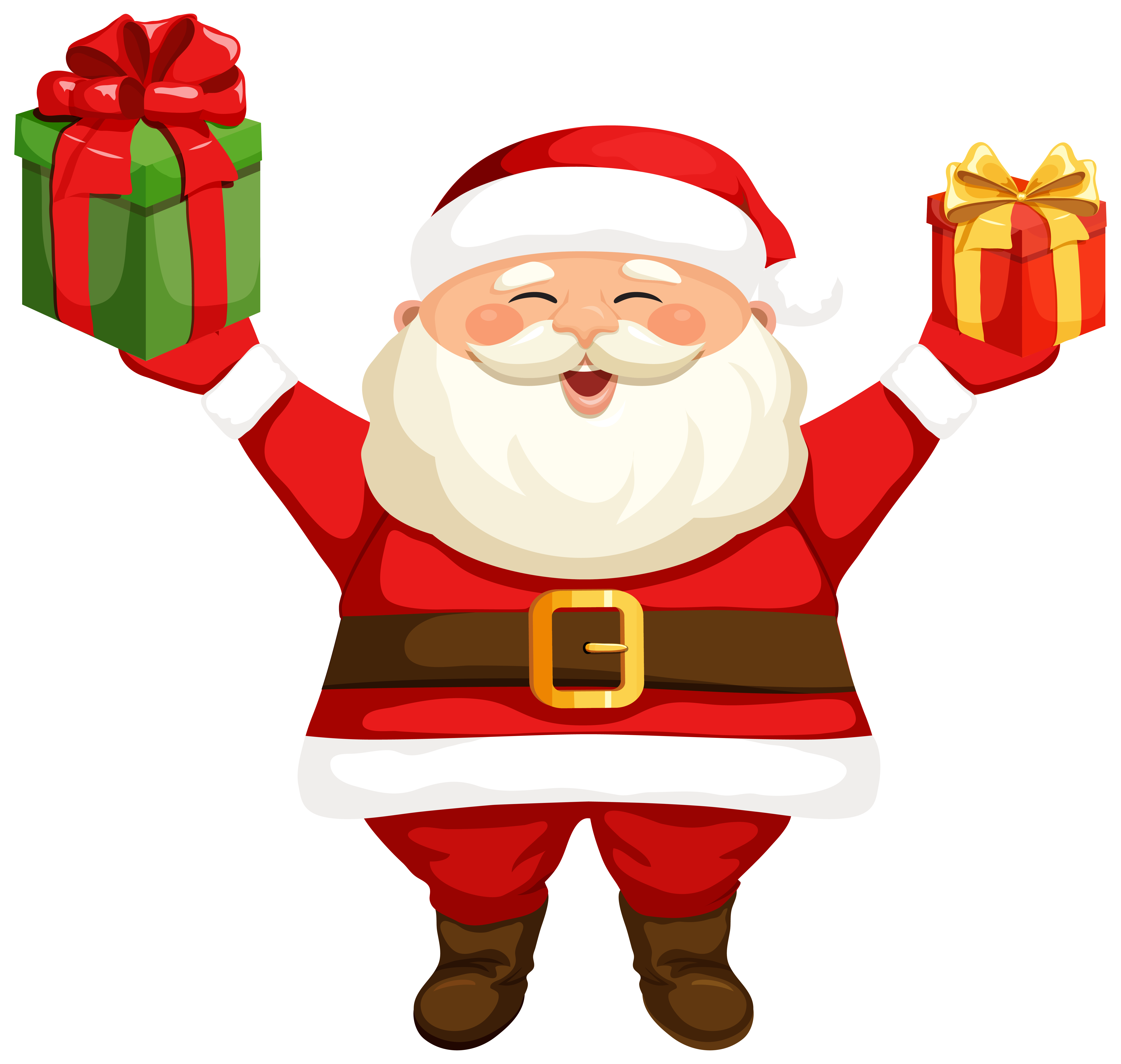 6184x5869 Santa Claus With Gifts Png Clipart Imageu200b Gallery Yopriceville