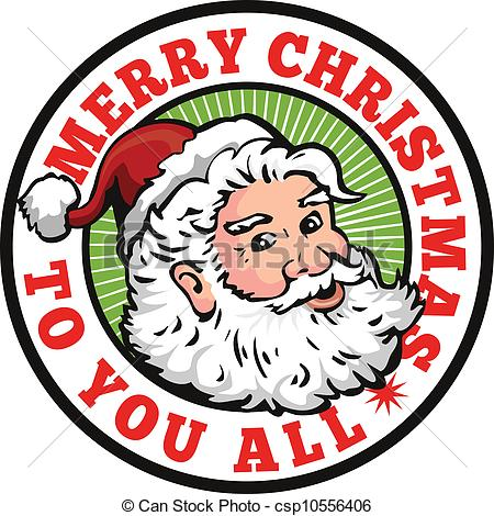 450x470 Free Vintage Merry Christmas Clip Art