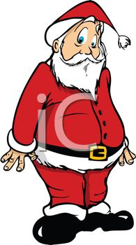 195x350 Picture Of Confused Santa Standing Up With Funny Face In