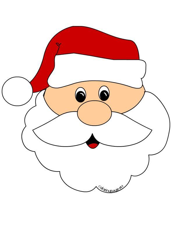 591x808 Santa Claus Face Cut Out Bows Face Cut, Santa And Face