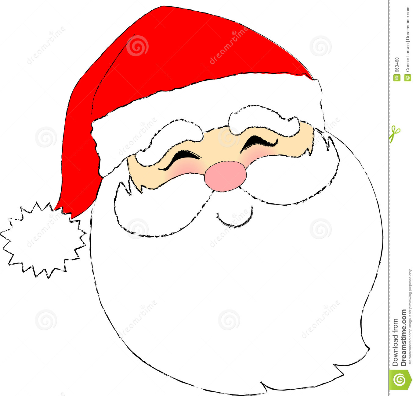 1363x1300 Unconditional Picture Of Santa Claus Face Cartoon Printables