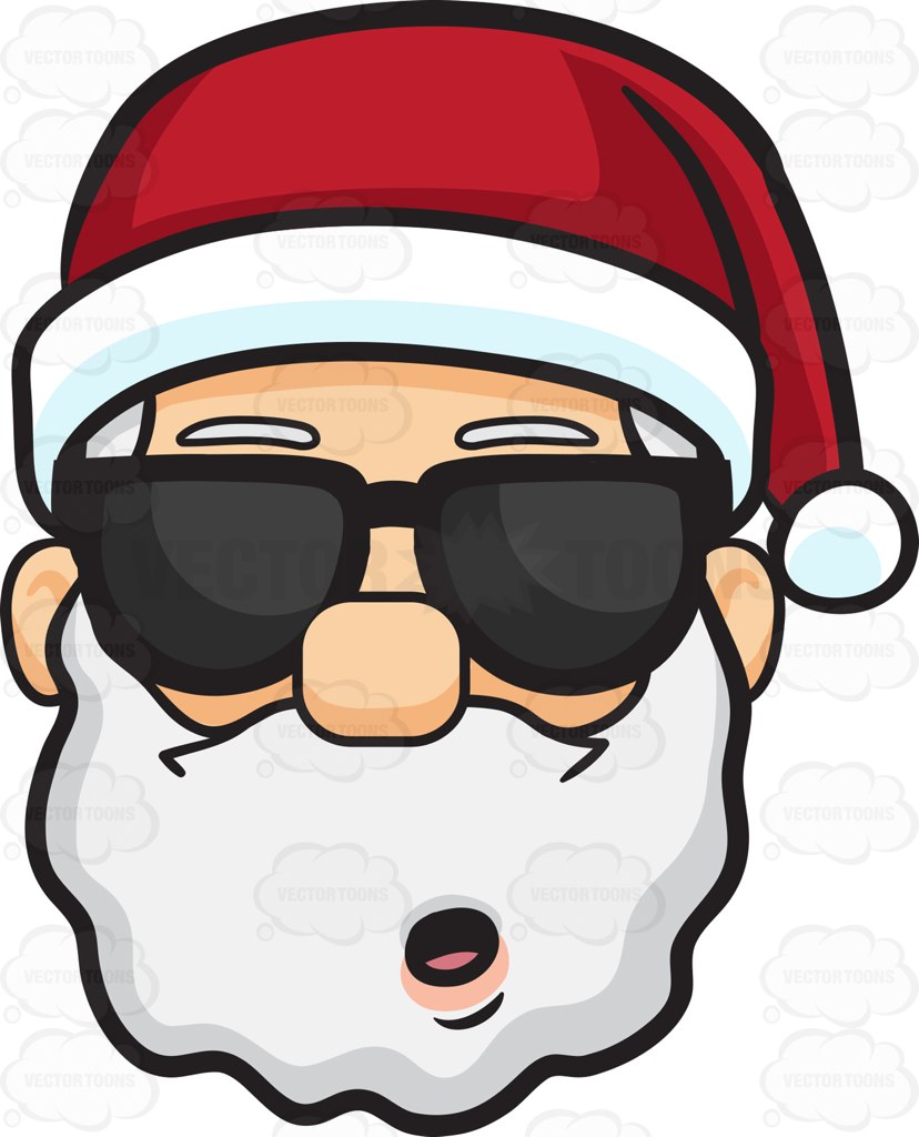 828x1024 A Stunned Face Of Santa Claus In Shades Cartoon Clipart Vector Toons
