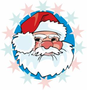 291x300 Christmas Clipart Picture Of Santa's Face