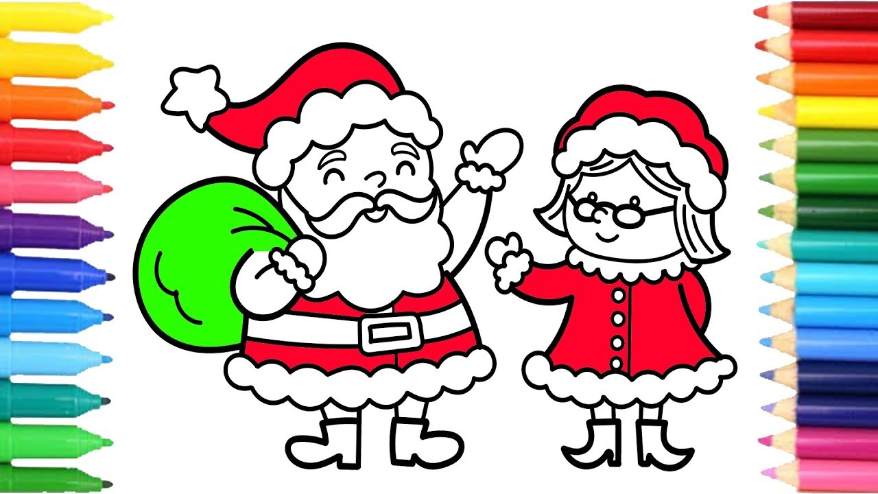 1280x720 How To Draw Santa Claus Goodbye Mrs Claus Christmas Art Colours