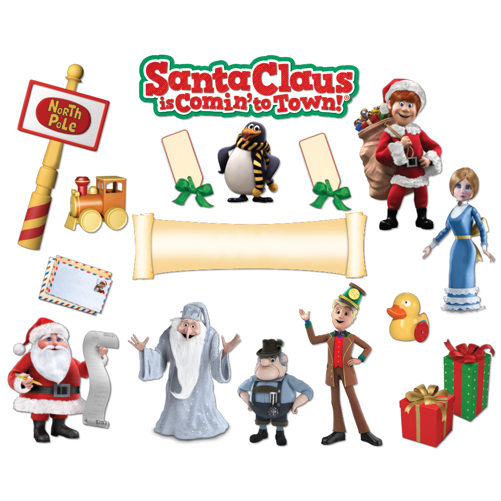 1000x1000 Santa Claus Is Comin' To Mini Bulletin Board Set Eureka School
