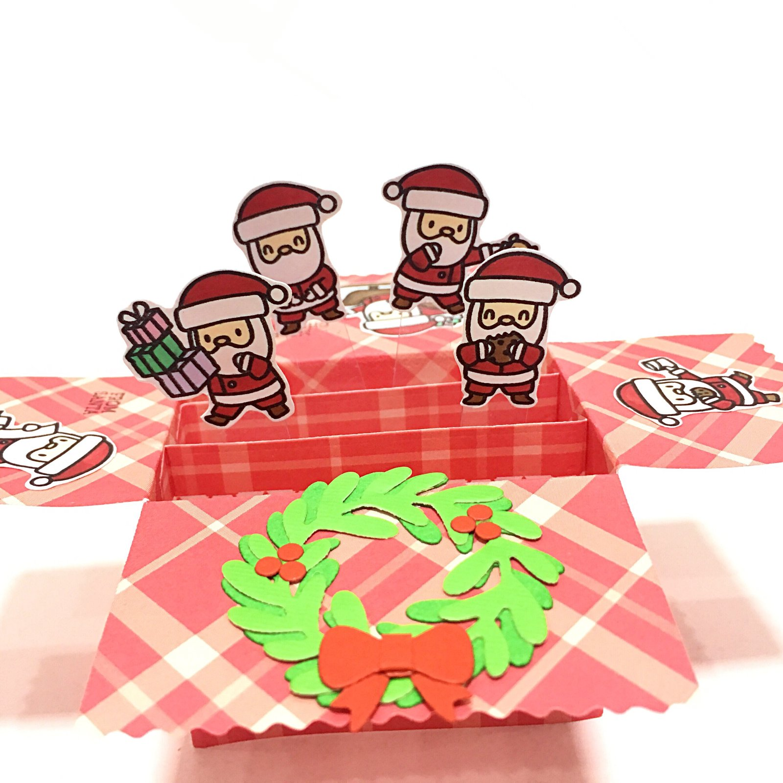 1600x1600 Santa Claus Is Coming To Town Mini Pop Up Box Card V2 My Fattybobo