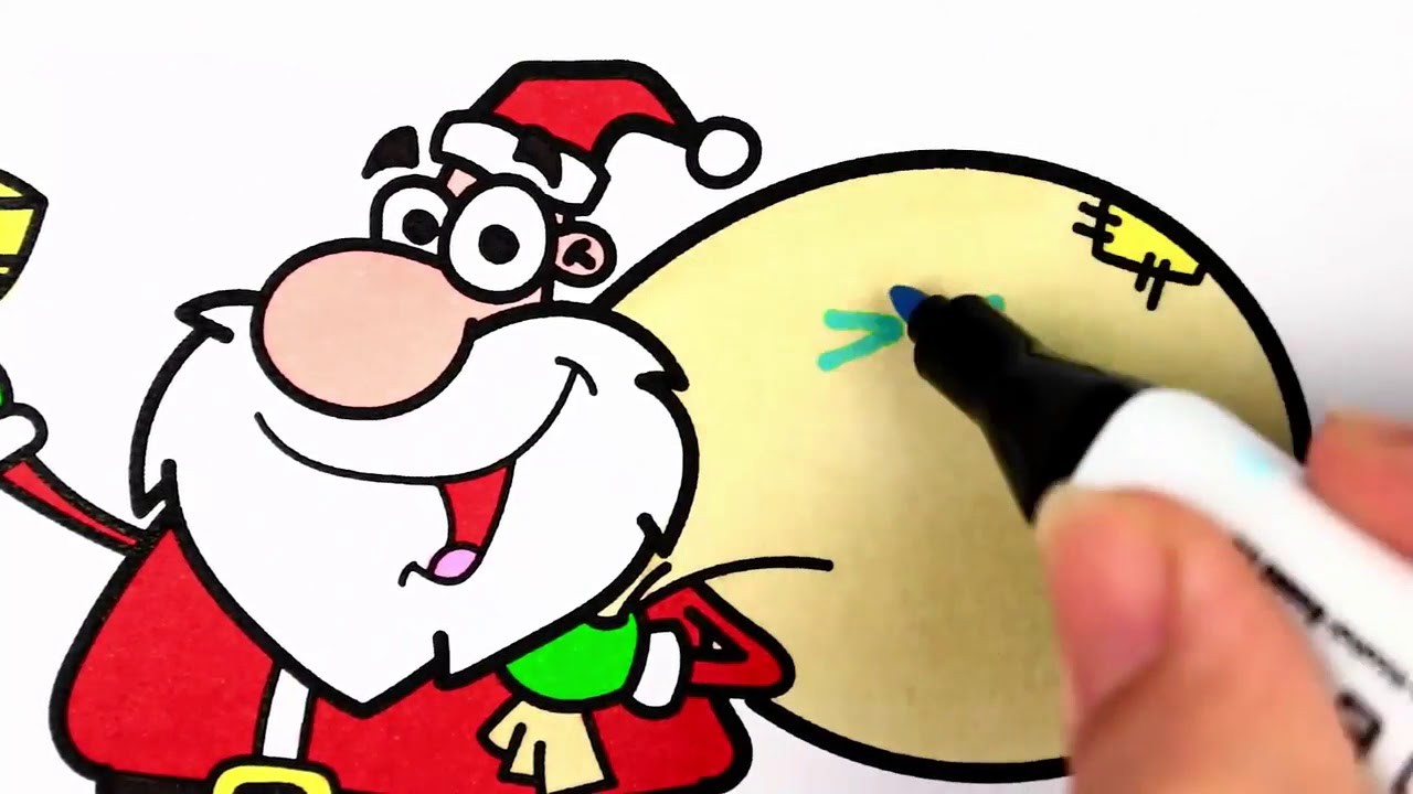 1280x720 Draw Santa Claus With Sleigh How To Draw Mrs. Claus Mrs. Claus