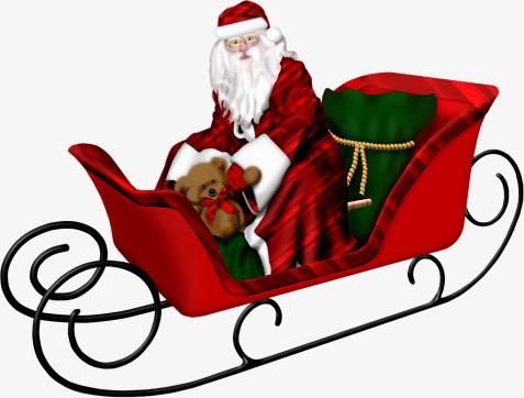 477x362 Christmas Sleigh, Sled, Santa Claus, Christmas Png Image