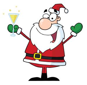 300x293 Clip Art Jolly Santa Clipart