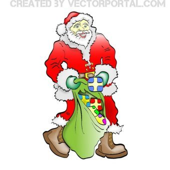 340x340 Santa Claus Clipart Images Vectors Download Free Vector Art