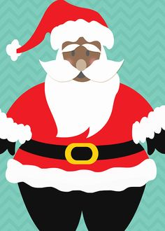 236x330 African American Santa Claus With Pancakes Clipart