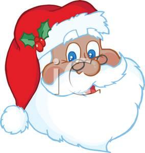 284x300 A Facial Picture Of Santa Claus