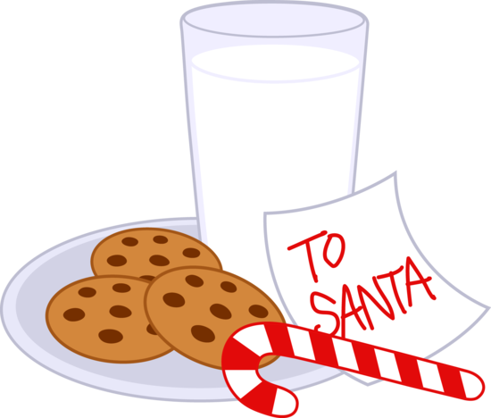 550x468 Cookies and Milk For Santa Claus