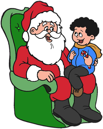 402x503 28+ Collection of Santa With Kids Clipart High quality, free