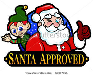 300x241 Clipart Picture Santa Claus And Elf Approved Mark