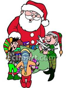 225x300 Clipart Of Santa's Elves