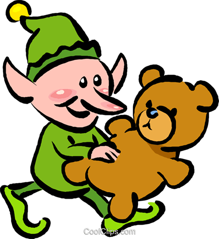 441x480 Santa's Elf Royalty Free Vector Clip Art Illustration Vc016070