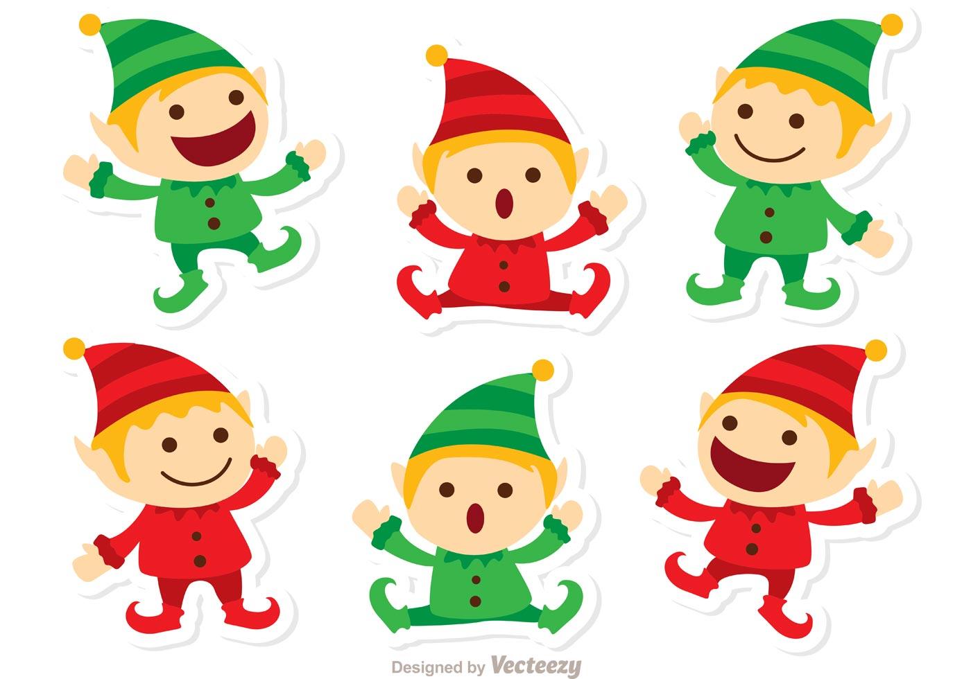 1400x980 Santas Elves Christmas Vector Pack