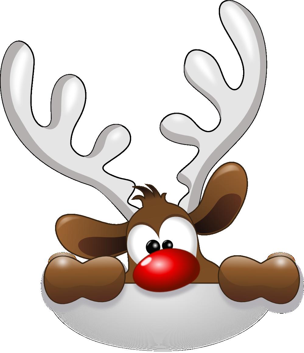 999x1159 Santa Reindeer Clip Art Cute Christmas Clipart