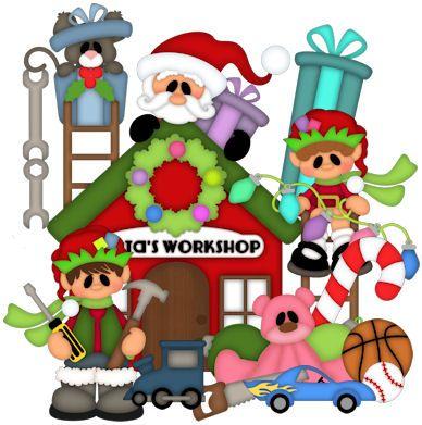 Santas Workshop Clipart