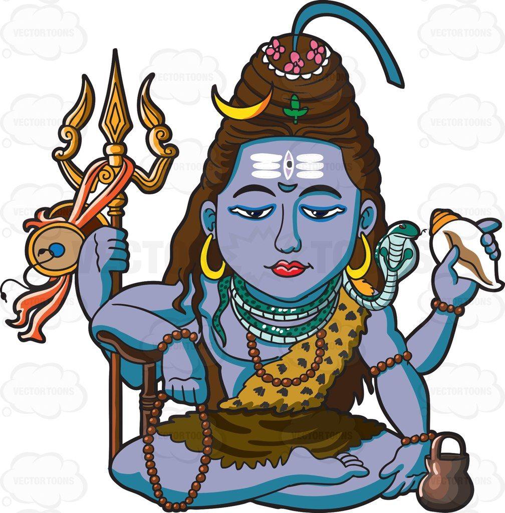 1008x1024 The Hindu God Shiva Cartoon, Hindu Deities And Hinduism