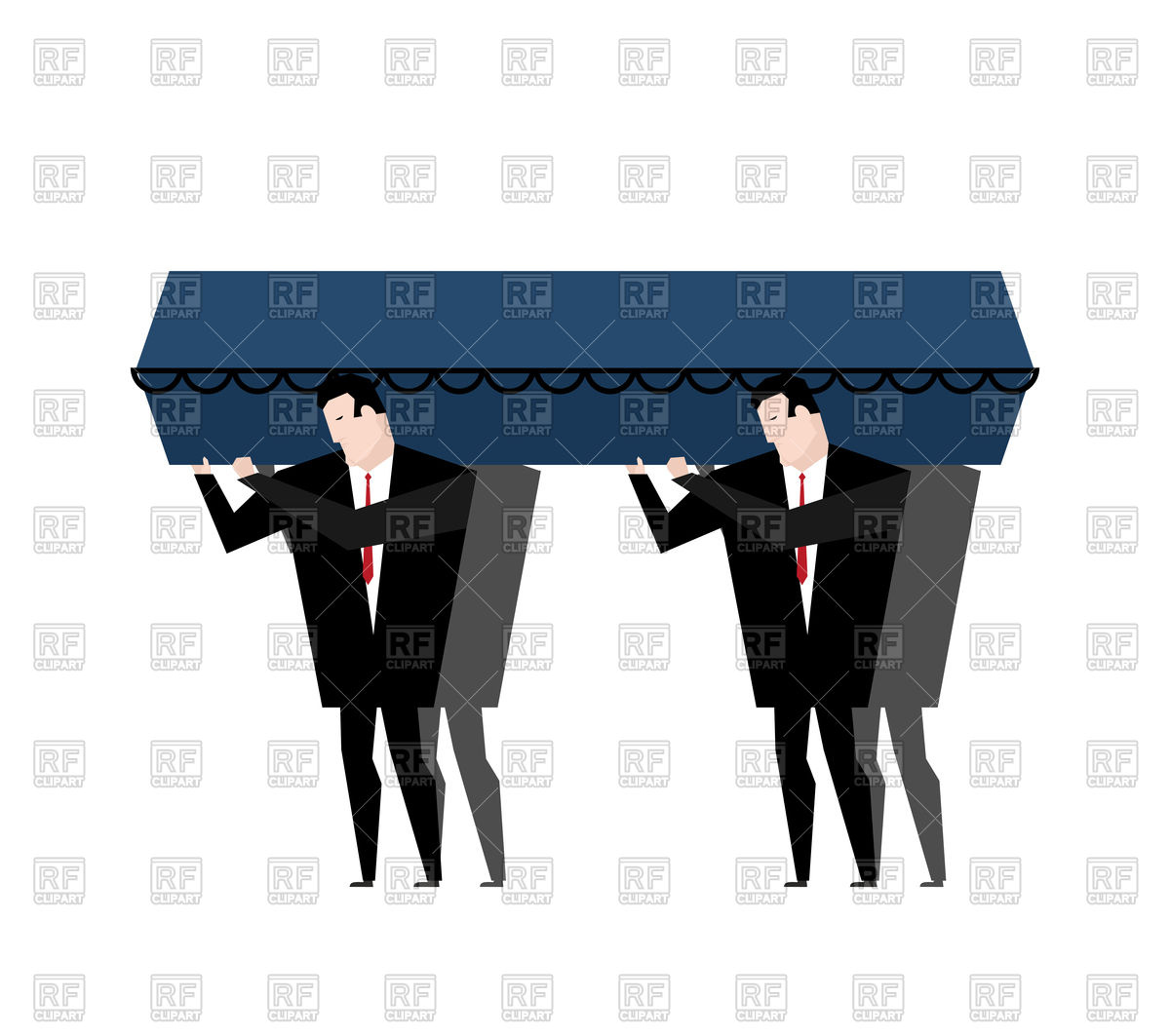 1200x1063 Funeral. Men Carry Coffin. Royalty Free Vector Clip Art Image
