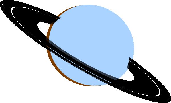 600x362 Saturn Blue Gray Black Brown Clip Art