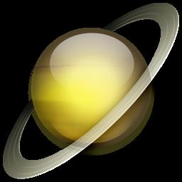 256x256 Saturn Icon Solar System Iconset Dan Wiersema