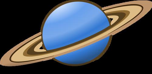 500x245 Vector Clip Art Of Planet Saturn Icon Public Domain Vectors