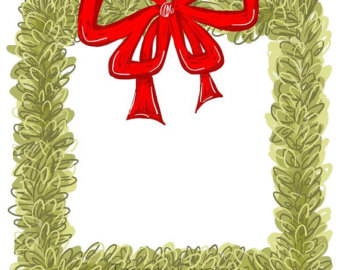 340x270 Christmas House Clipart Christmas Card Art Southern Chic