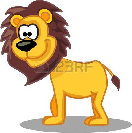 445x450 King Of The Savannah Clipart