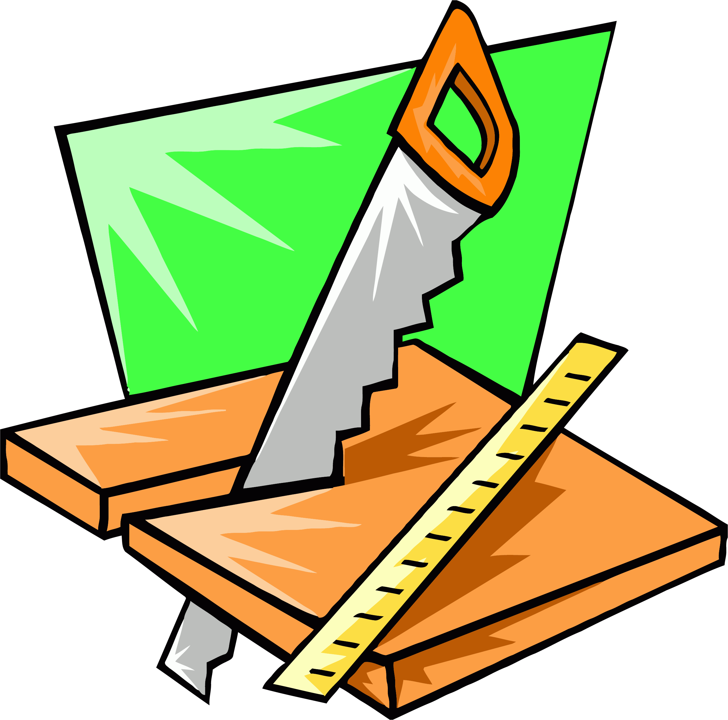 2476x2451 Saw Wood Working Carpenter Clipart Png