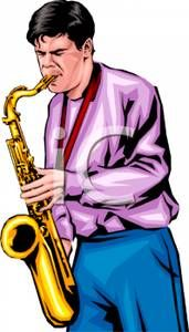 171x300 Man Playing Saxophone Clipart