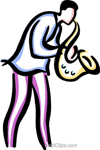 320x480 Man Playing The Saxophone Royalty Free Vector Clip Art