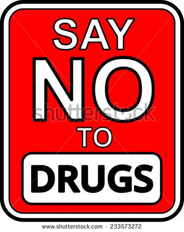Say No To Drugs Clipart