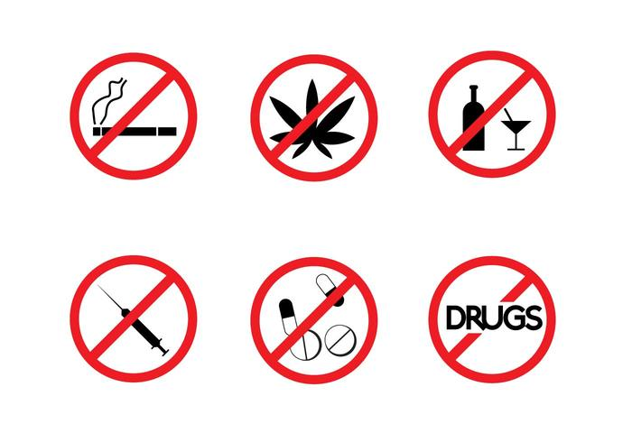700x490 Free No Drugs Signs Vector