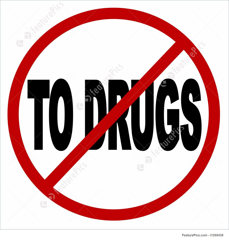 1300x1360 No To Drugs Icon Stock Illustration I1269438