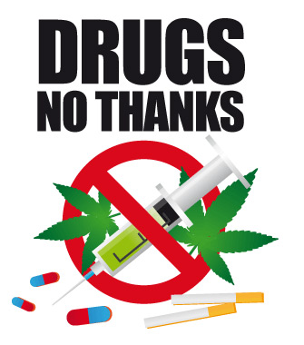 335x380 Say No Drugs Clipart