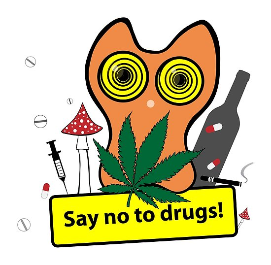 550x538 Say No To Drugs Posters By Xenia Govorukhina Redbubble