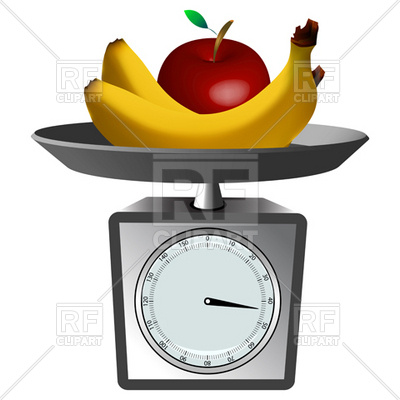 400x400 Fruits And Domestic Scales Royalty Free Vector Clip Art Image