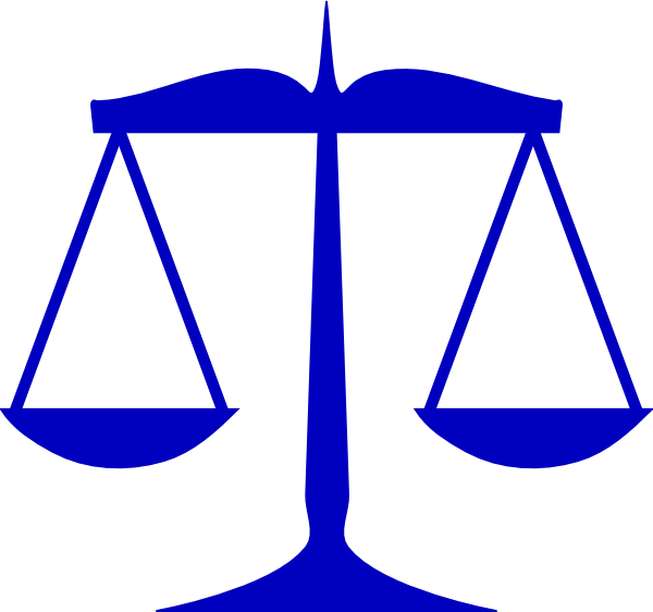 600x562 Blue Scales Of Justice Clip Art