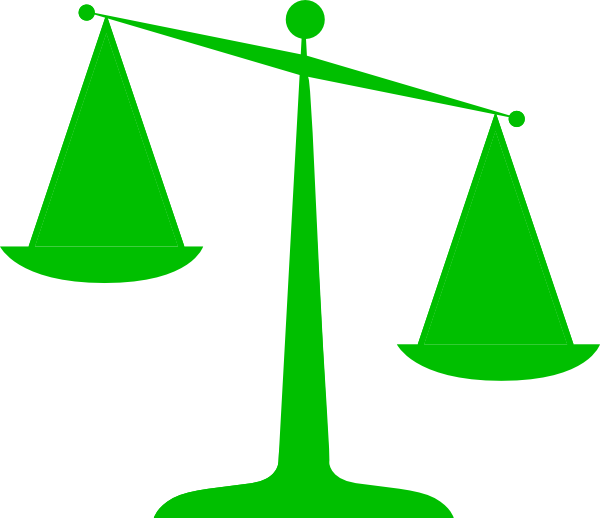 600x518 Scales Of Justice (Green) Svg Clip Arts Download