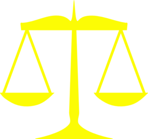 298x279 Yellow Scales Of Justice Clip Art