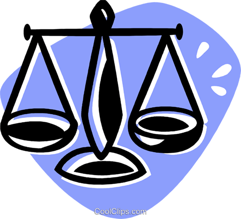 480x438 Scales Of Justice Royalty Free Vector Clip Art Illustration